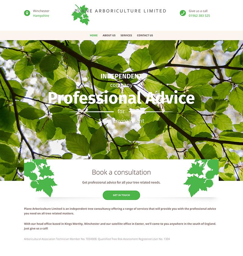 Engage Digital Marketing Portfolio Plane Arboriculture Website